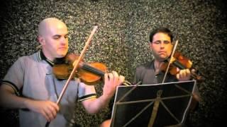 Allegro de la Sonata 1ª para 2 Violines en Canon (G.P.Telemann)