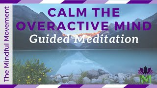 Meditation to Calm an Overactive Mind / Reduce Anxiety and Worry / Mindful Movement