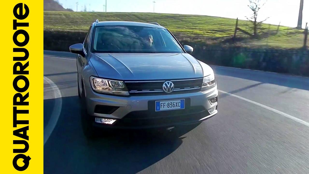 volkswagen tiguan assistenza alla guida diario  bordo day  youtube