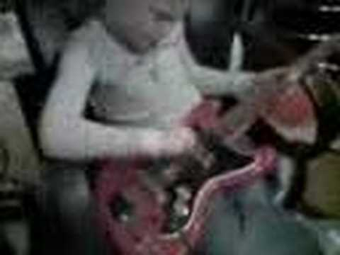 Wild Child On Guitar