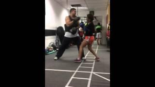 Avances de los alumnos de Defensa Personal, las cuales son impartidas en Escuela de Boxeo Venezuela