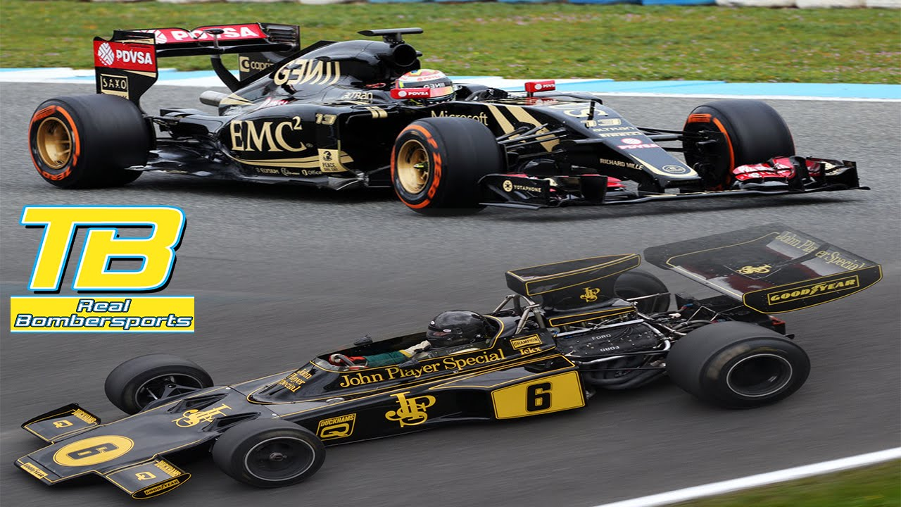 Lotus F1 At Brands Hatch 2015 E23 Hybrid Vs Lotus 72 Pure Sound Youtube