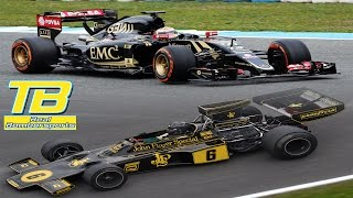 Lotus F1 at Brands Hatch: 2015 E23 Hybrid vs Lotus 72 - PURE SOUND!