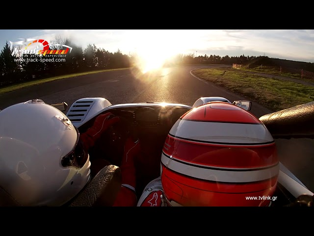 Radical experience with our instructor at the passenger seat at Serres Circuit ,Track-speed.com