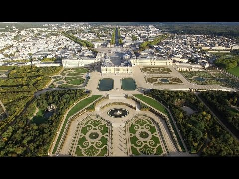 See the breathtaking drone footage that captures the beauty of Versailles from above