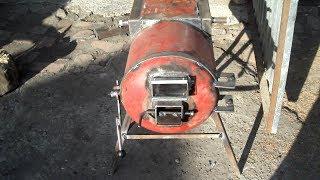 Буржуйка - котёл №2 из газового пропановского баллона. Для гаража или дома