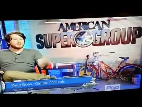 Ryan Boss appearing Live on American Supergroup TV show