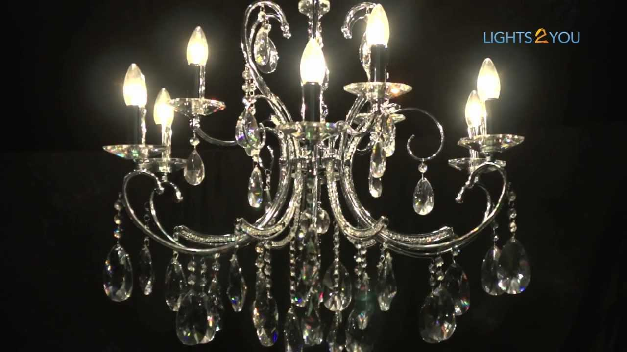 2013 chrome asfour crystal chandelier youtube 2013 chrome asfour crystal chandelier aloadofball Choice Image