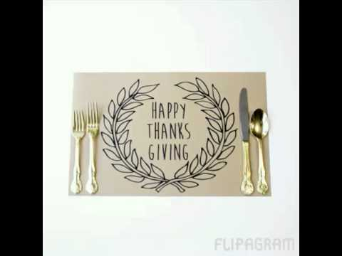 Printable Thanksgiving Placemats - YouTube