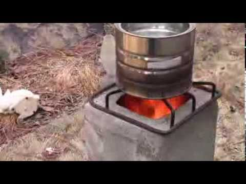 Make a $4 emergency biomass stove from concrete blocks