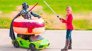 WOLRDS LARGEST Surprise Star Wars Playdate The Assistant  Darth Vader Toys Video Parody