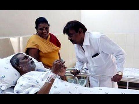 Vijayakanth rushes to Hospital to see Vinu Chakravarthy   உடல் நலம் விசாரித்தார் விஜயகாந்த்