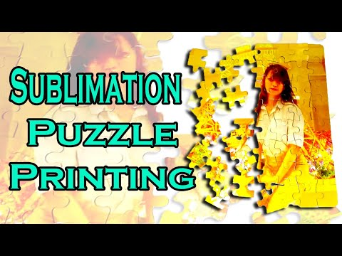 SUBLIMATION PUZZLE   HOW TO PRINT ON PUZZLE   DIY PUZZLE