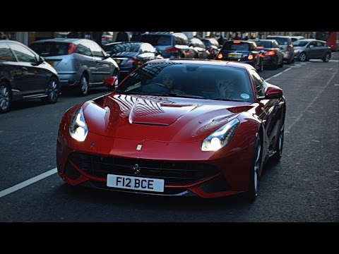 Bernie Ecclestone cruising on Sloane street in his Ferrari F12!