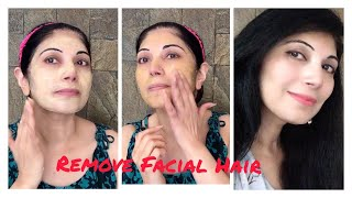 How To Remove Facial Hair Naturally Homemade Face Mask