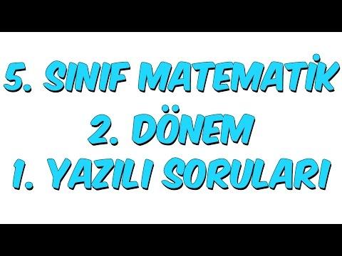 5.SINIF 2.DÖNEM 1.YAZILI | MATEMATİK