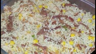 Carne seca com Arroz – Receita Simples