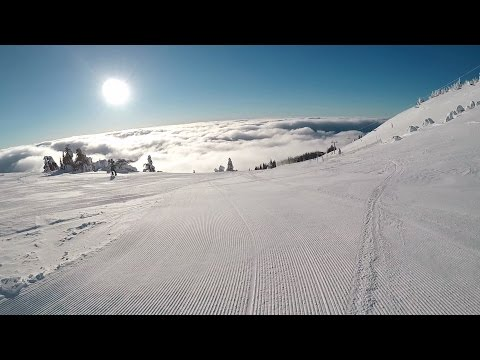 Quick morning ski Sun Peaks day after a powder day Gopro