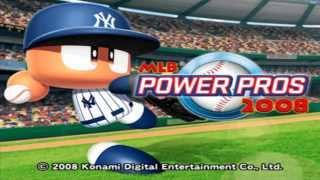 MLB Power Pros 2008 Baseball PS2 - Intro HD