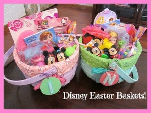 Girls disney themed easter baskets youtube negle Gallery