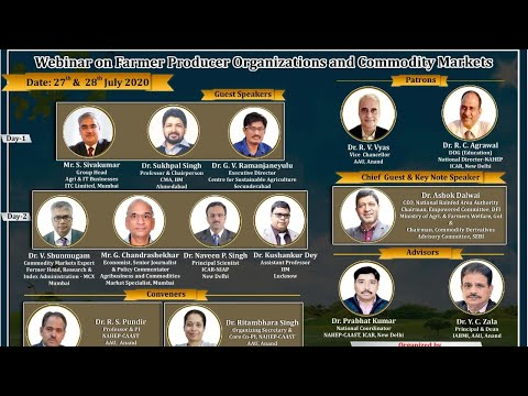 Farmer Producer Organizations and Commodity Markets, Session