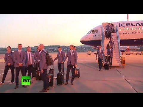 Сборная Исландии по футболу прилетела в Геленджик для участия в ЧМ-2108