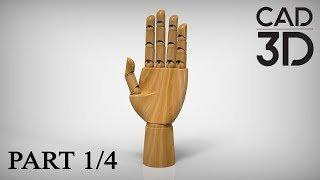 HOW TO DESIGN ARTICULATED WOODEN HAND (1/4)