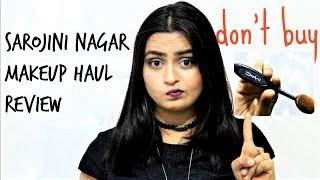 MAC for 50 Rs.😡| SAROJINI NAGAR fake MAKEUP HAUL+ REVIEW
