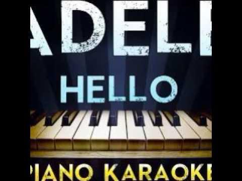 Adele Hello Lower Key Piano Karaoke Instrumental Lyrics Cover Sing Along 2