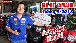 Video Giá xe máy Yamaha tháng 5/2018 ▶ Exciter 150 hạ nhiệt, Sirius Fi có màu mới! download MP3, 3GP, MP4, WEBM, AVI, FLV September 2018