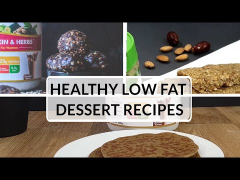 Healthy Low Fat Dessert Recipes | Homemade Easy & Quick Desserts | OZiva TV