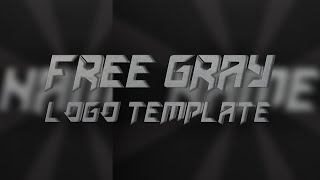 Free Grey Logo Template #10 | Photoshop | D.U. Designs