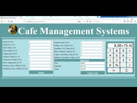 How To Create Cafe Management System Using PHP, HTML, CSS And Javascript