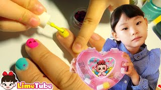 라임의 공포의 네일샵 캔디걸 코스메틱 어린이 화장품 장난감 놀이