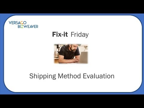 Automated Shipping Method Evaluation - Fix it Friday