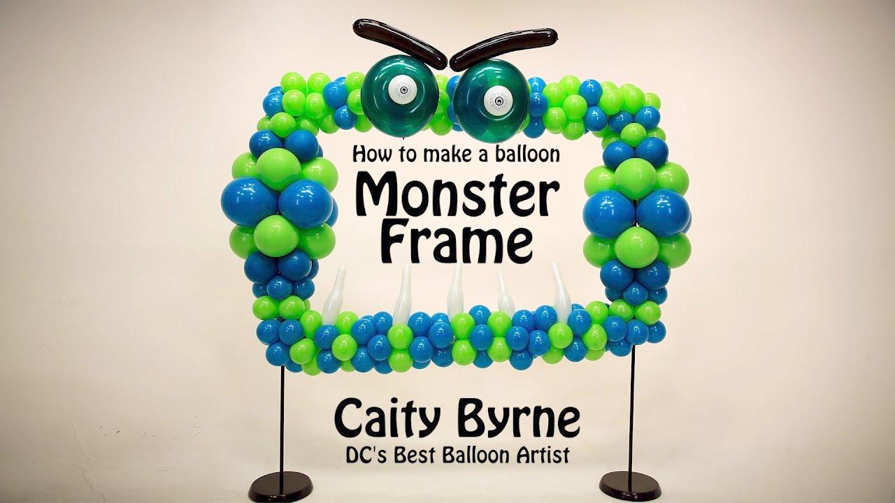 balloon monster frame photo op diy step by step youtube. Black Bedroom Furniture Sets. Home Design Ideas