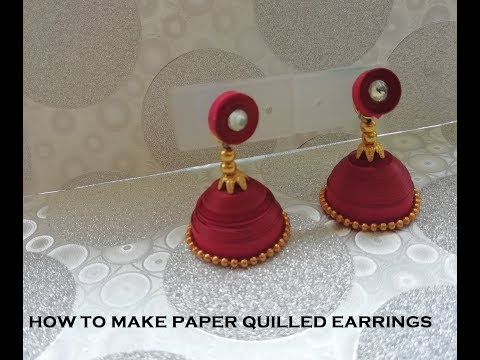 How to make a beautiful Jhumka with Quilled Paper
