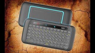 H20 Классная мини клавиатура с тачпадом и с программируемой кнопкой вкл/выкл  обзор
