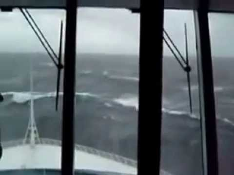 monster wave almost topples ship