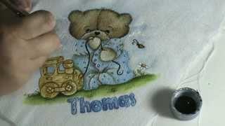 Pintando o Ursinho de Pijamas com Claudia Beatris