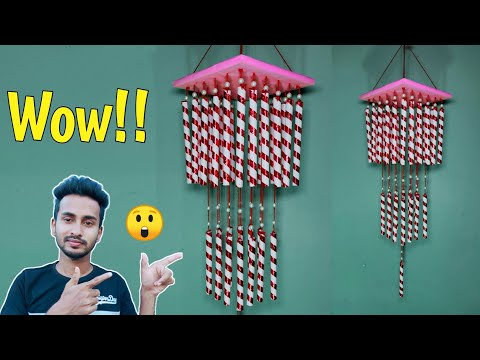 How to make wind chime // Wind chime craft ideas // Wind chime making at home
