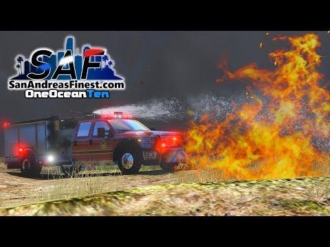 SA'F #163 - Brush Fire! | GTA V RP