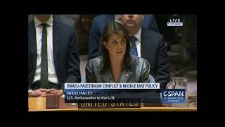Nikki Haley fires back at Palestinians who wanted her silenced: