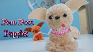 Manualidades fáciles para niños como hacer perritos con pompones de lana - Chihuahua - Isa ❤️