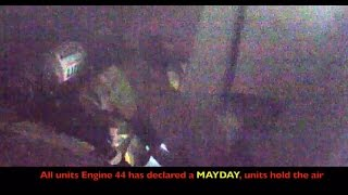 MAYDAY Firefighter rescue caught on video (3 angles) Lansing MI