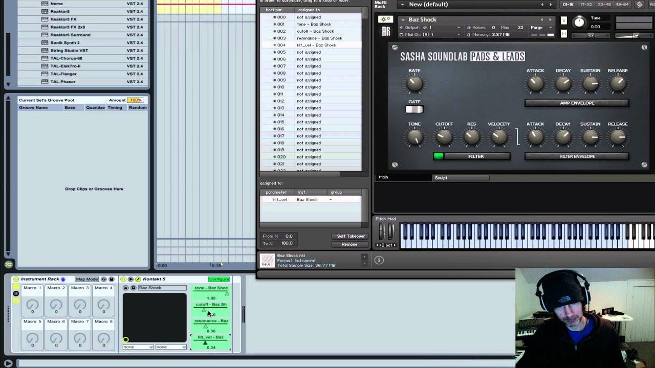 Sasha Soundlab: Assigning Kontakt Knobs to Midi Controllers   Ableton Live