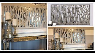 DIY | Designer Inspired Easy and Inexpensive Mirrored Abstract Wall Art| Home Decor!!