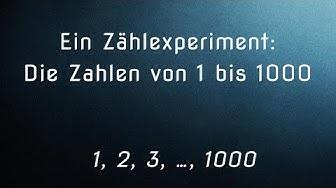 Die Zahlen von 0 bis 1000 - Ein Zählexperiment