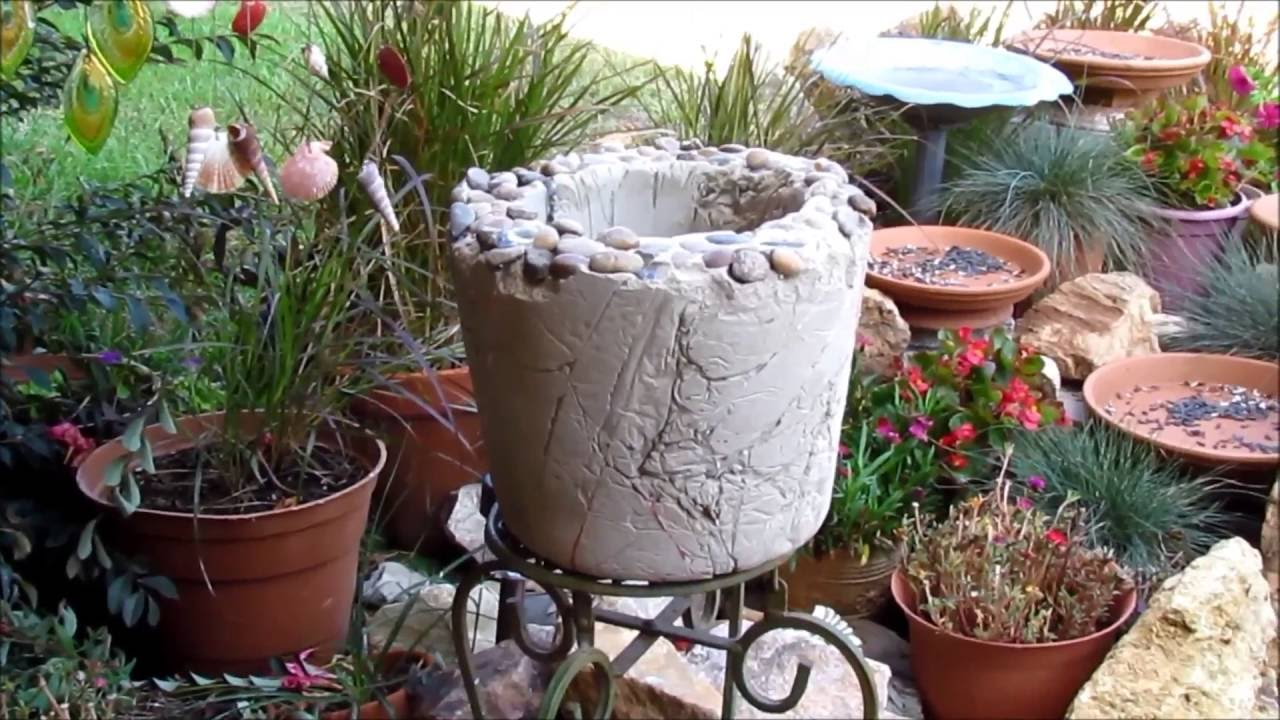 Making Portland Cement Planter What Not To Do Watch This  in Ga
