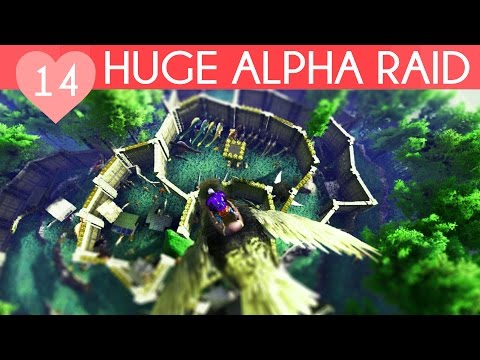 HUGE ALPHA TRIBE RAID | My Private Ark Server | Ark Survival Evolved Gameplay, Episode 14